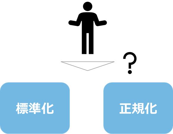 標準化と正規化の選定方法